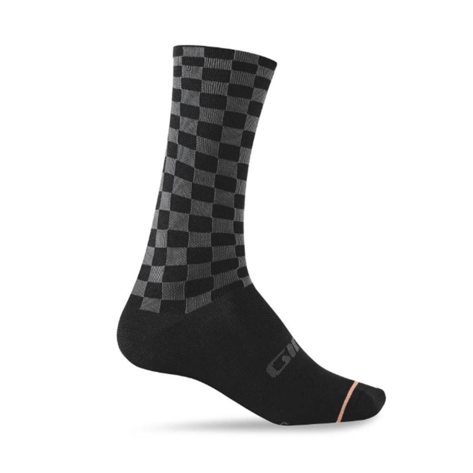 Giro Cycling Comp High Rise Socks Checkered