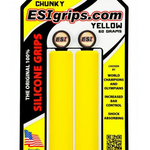 ESI Chunky Silicone MTB Handlebar Grip Yellow