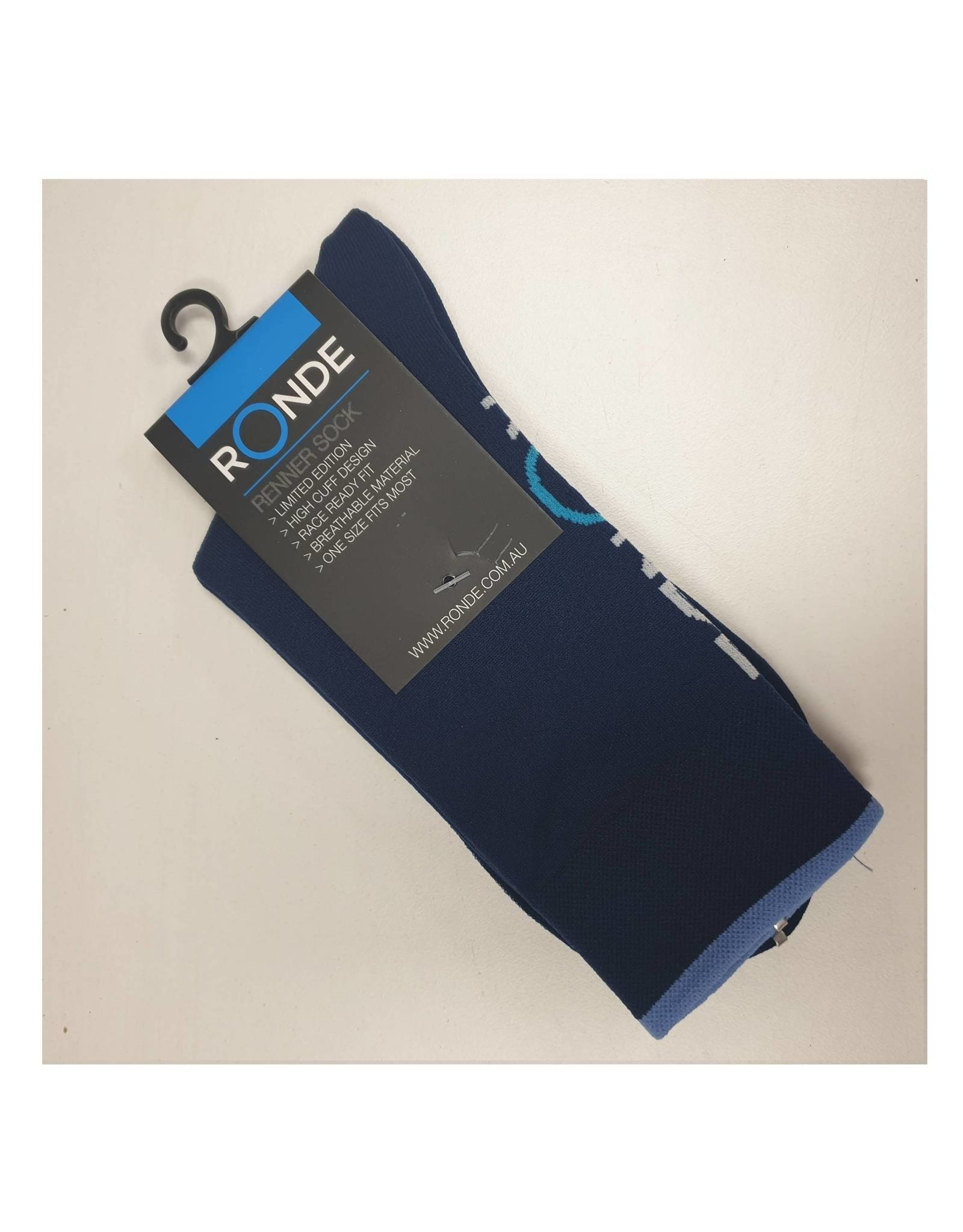 Ronde Renner Cycling Socks Navy Blue