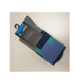 Ronde Renner Cycling Socks Grey Blue Green