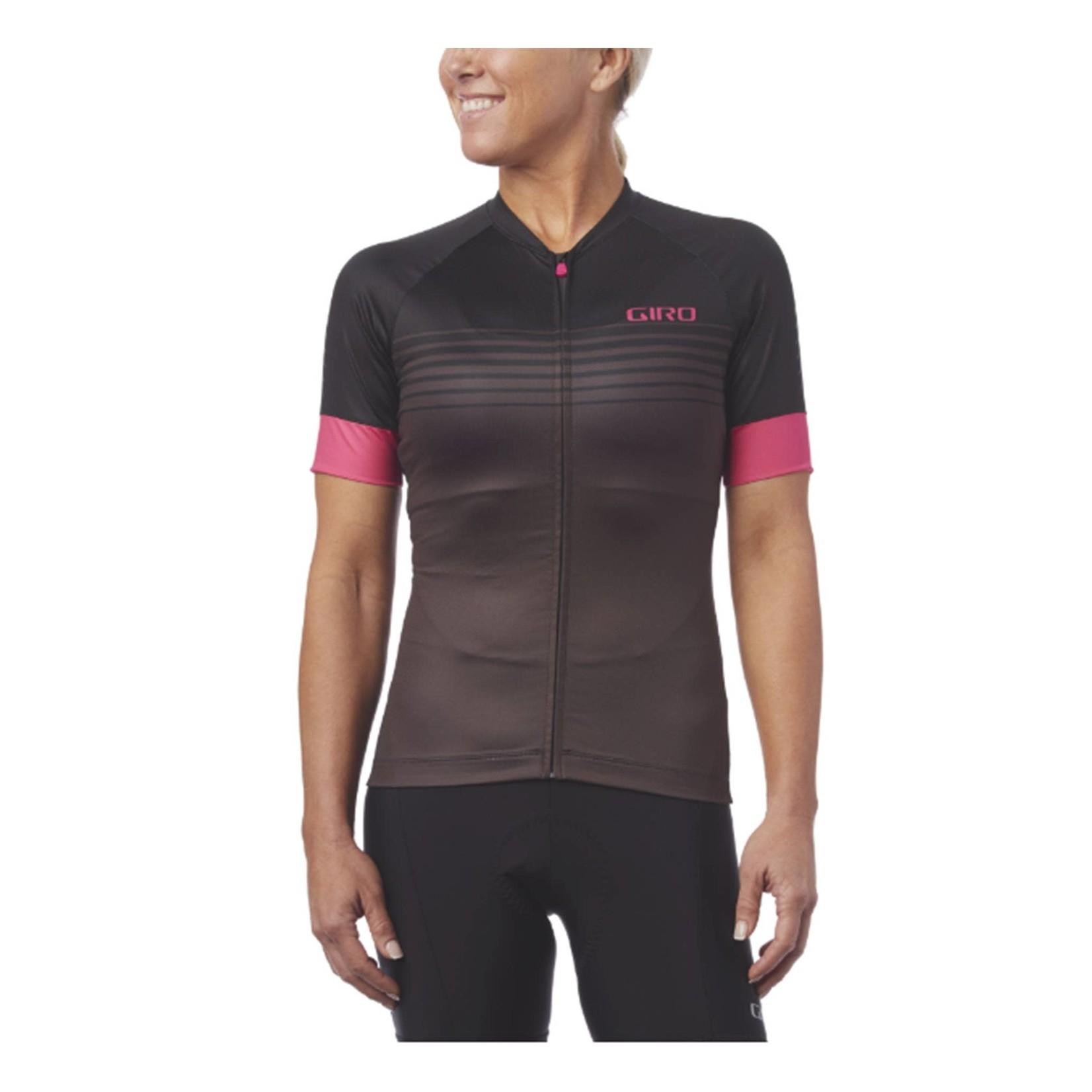 Giro Chrono Expert Womens Cycling Jersey Pink Black Stripe