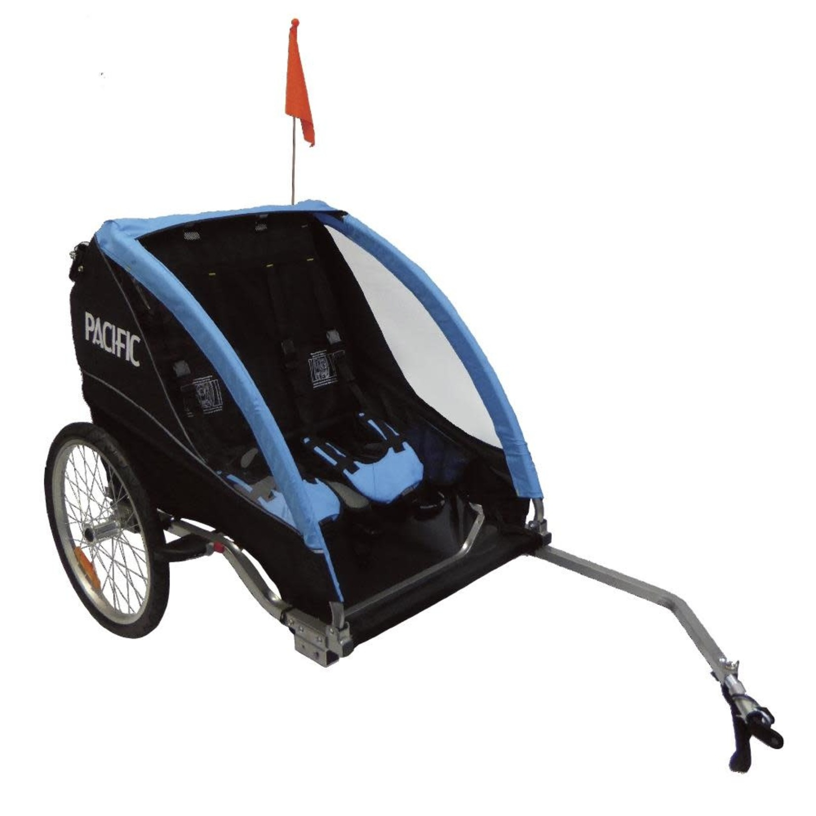 Pacific Deluxe Alloy 2 In 1 Trailer/Stroller - 2 Child
