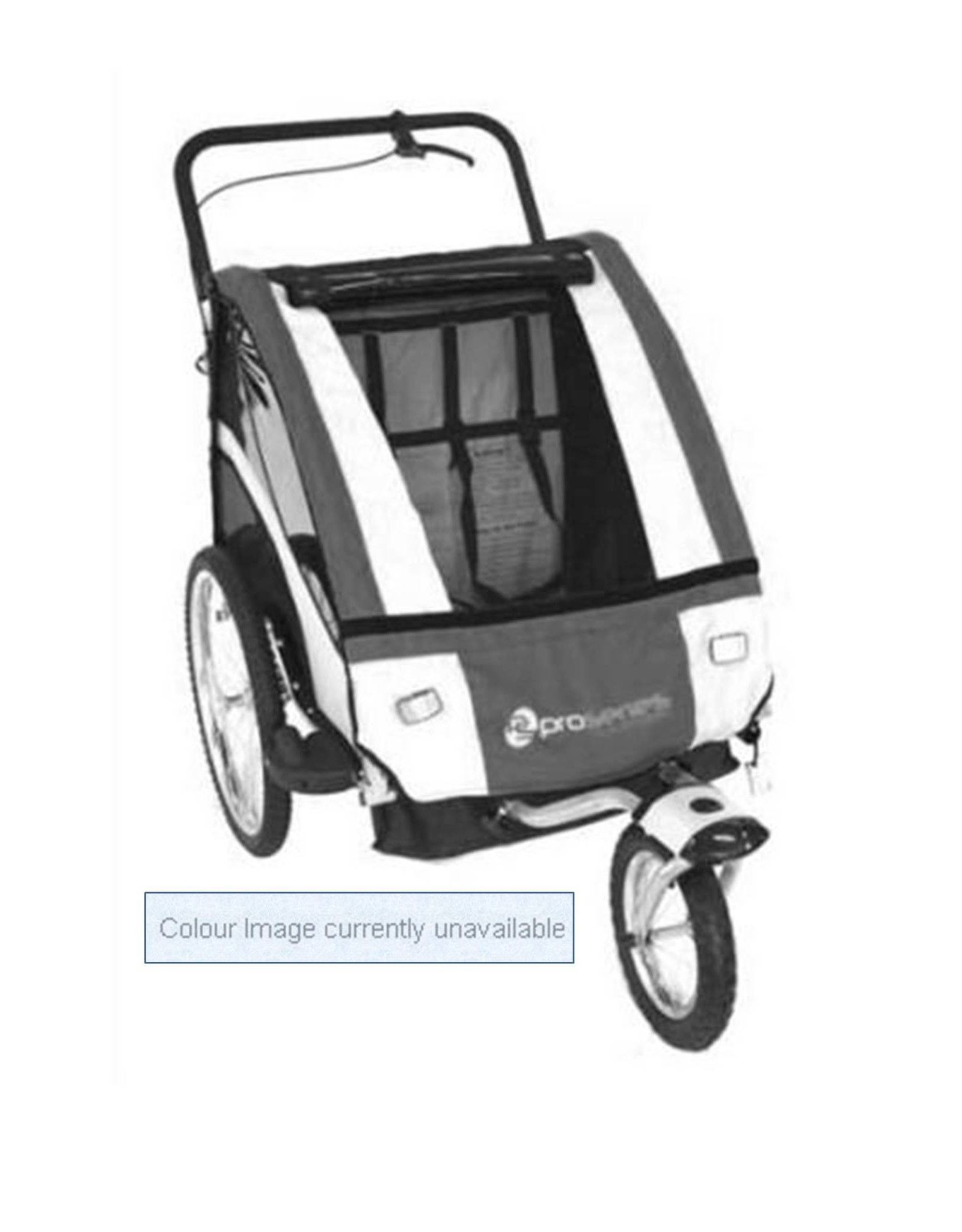 Pro Series Steel 2 In 1 Trailer/Stroller - 2 Child - Blue