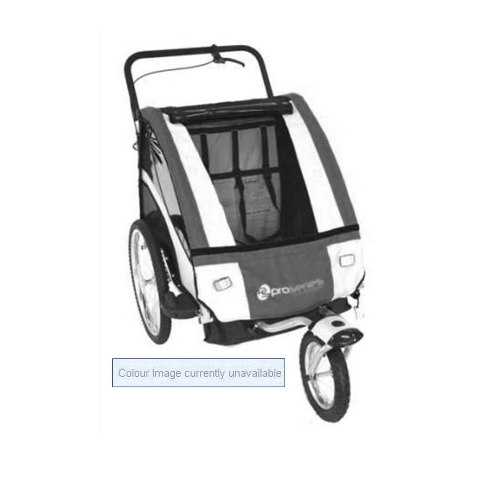 Pro Series Steel 2 In 1 Trailer/Stroller - 2 Child - Blue