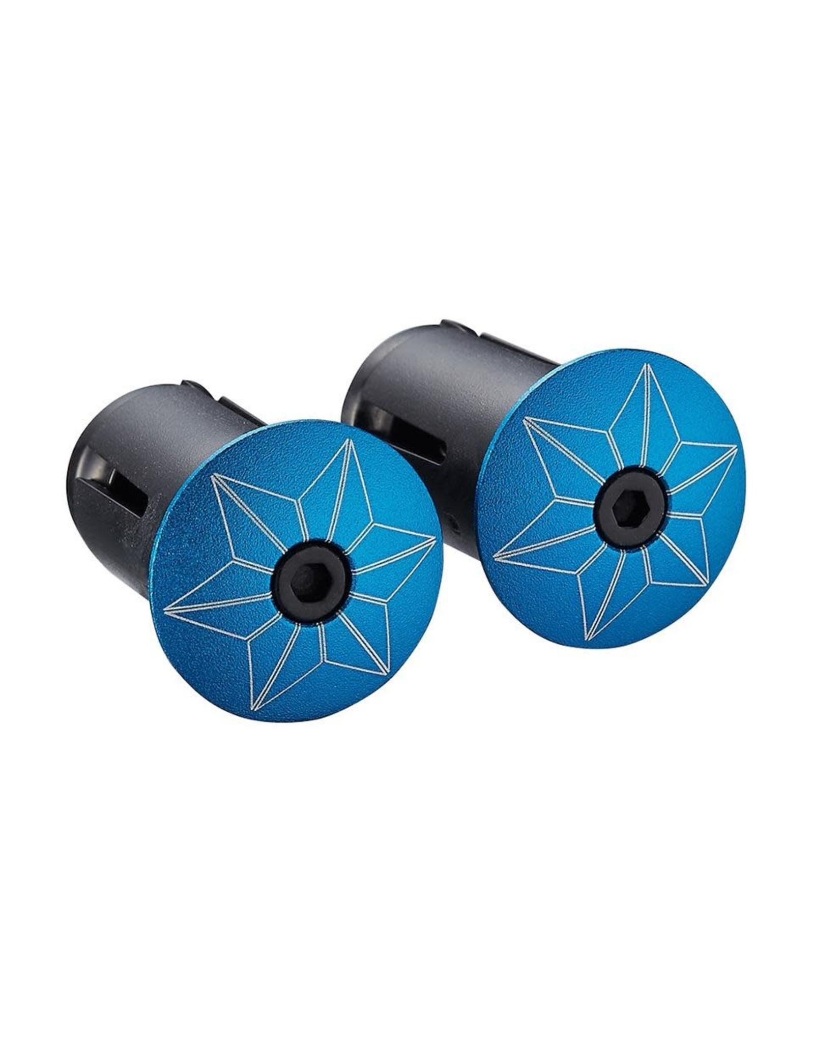Supacaz Bling Blue Ano/Blue ano plugs Bar Tape