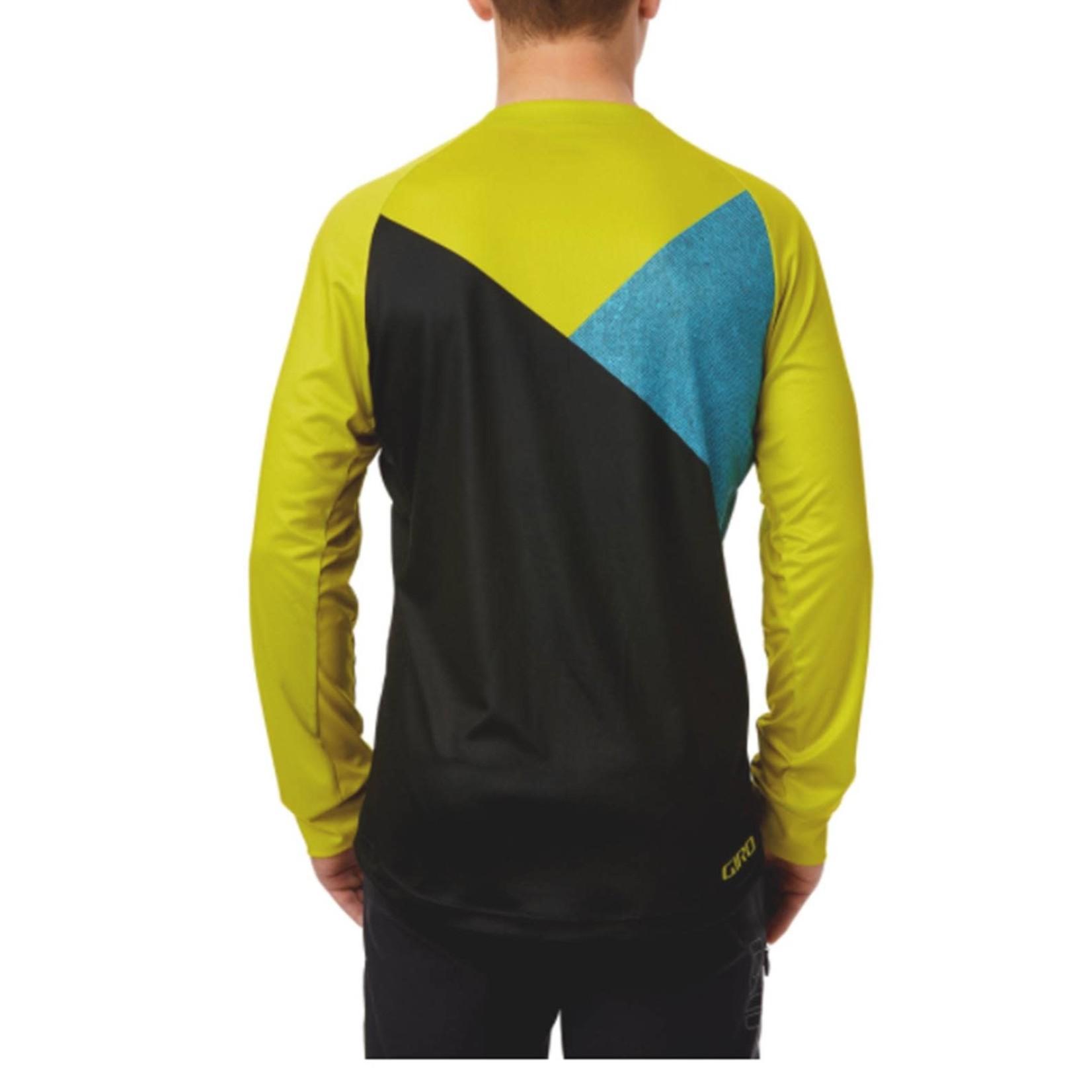 Giro Roust Long Sleeve MTB Jersey Citron Green