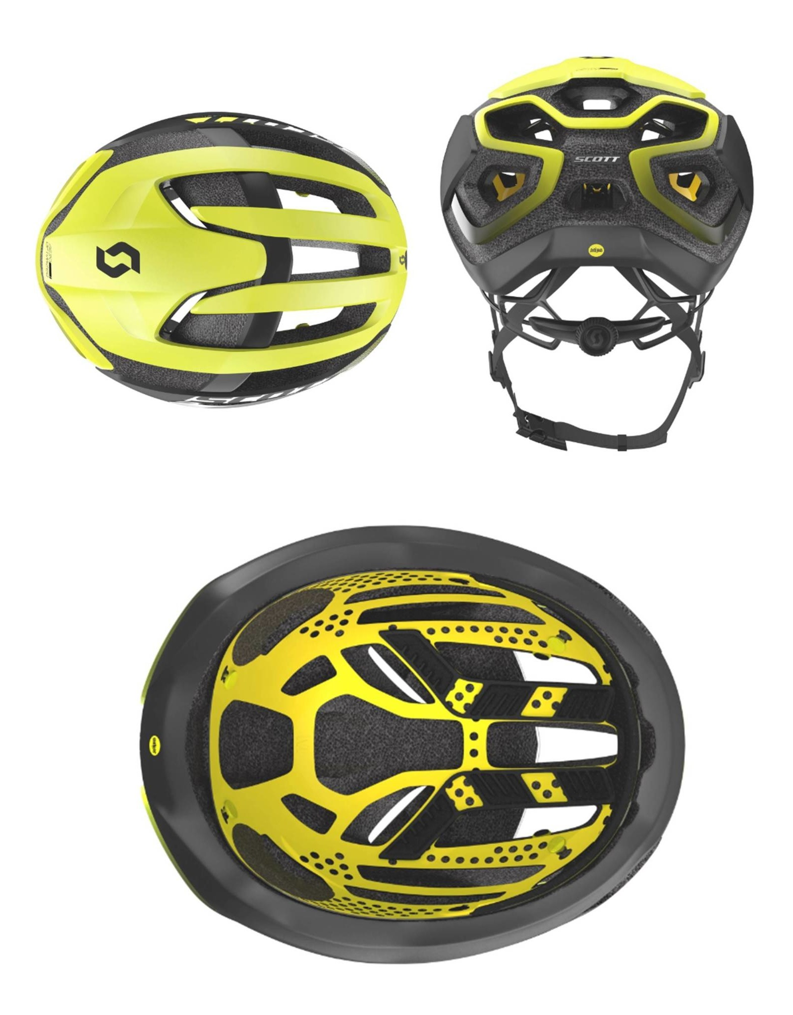 SCOTT Scott Helmet Centric PLUS Mips Yellow/Black
