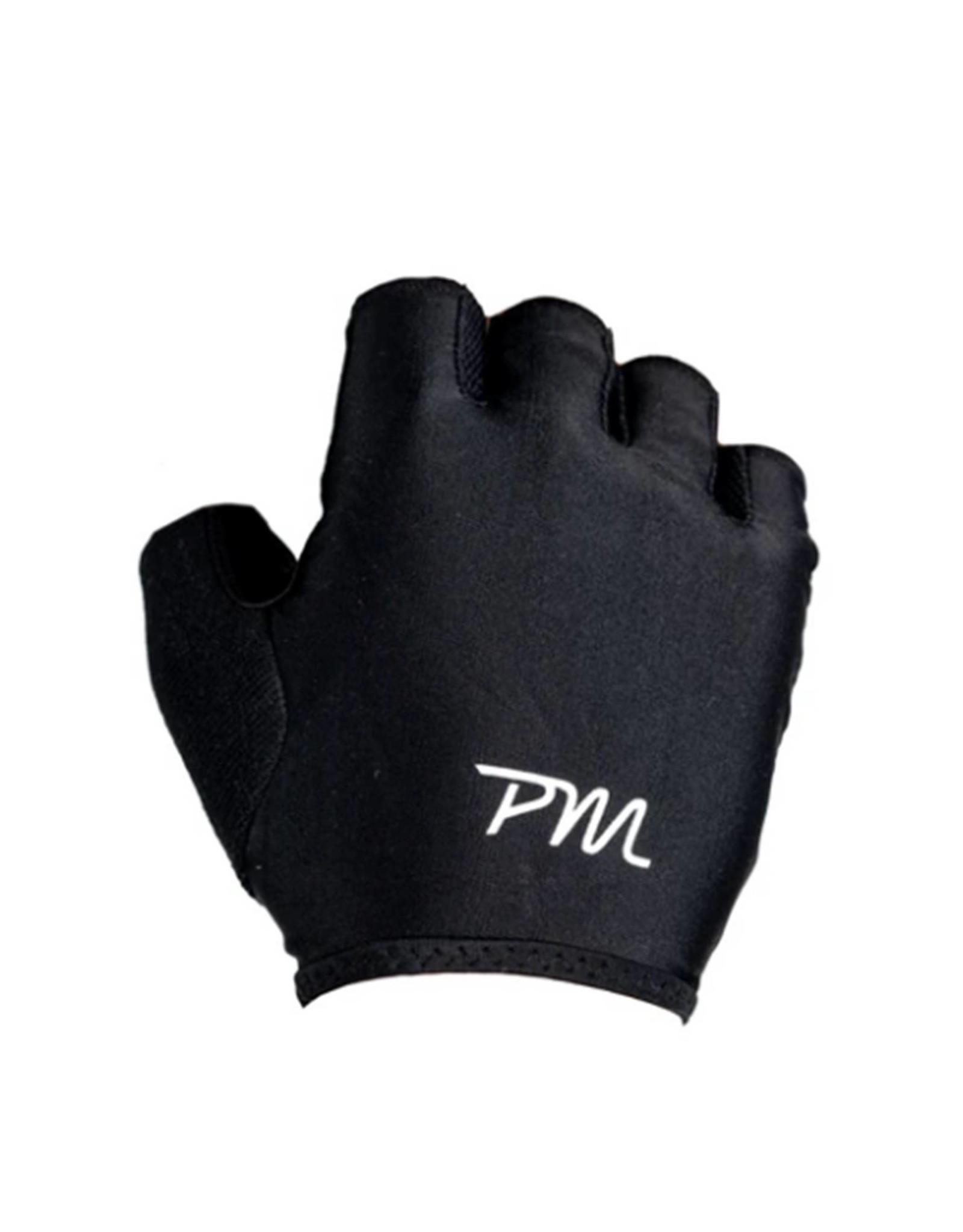 Pedal Mafia Short Finger Cycling Gloves Black/White