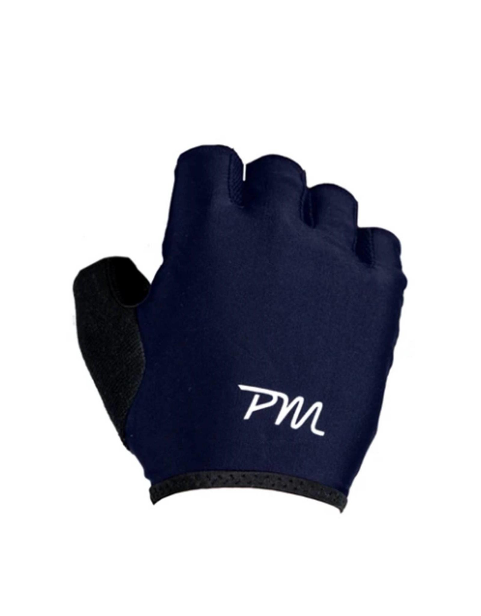 Pedal Mafia Short Finger Cycling Gloves Navy/White
