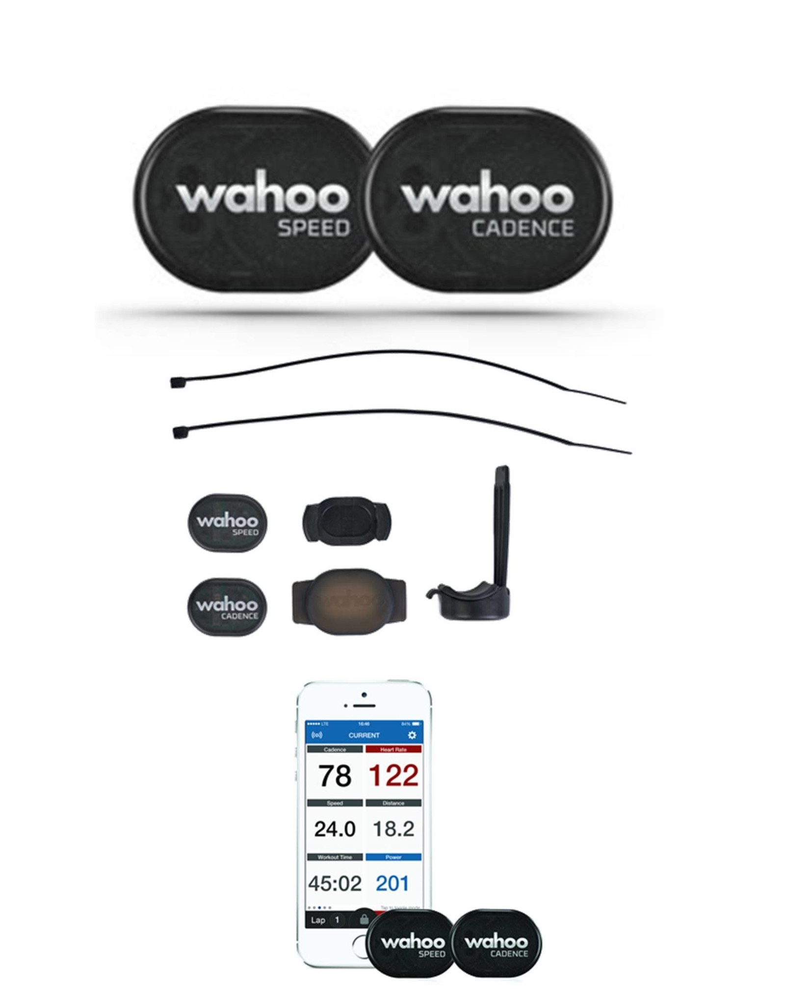 Wahoo RPM Speed & Cadence Sensor Bundle Bluetooth 4.0 and ANT+