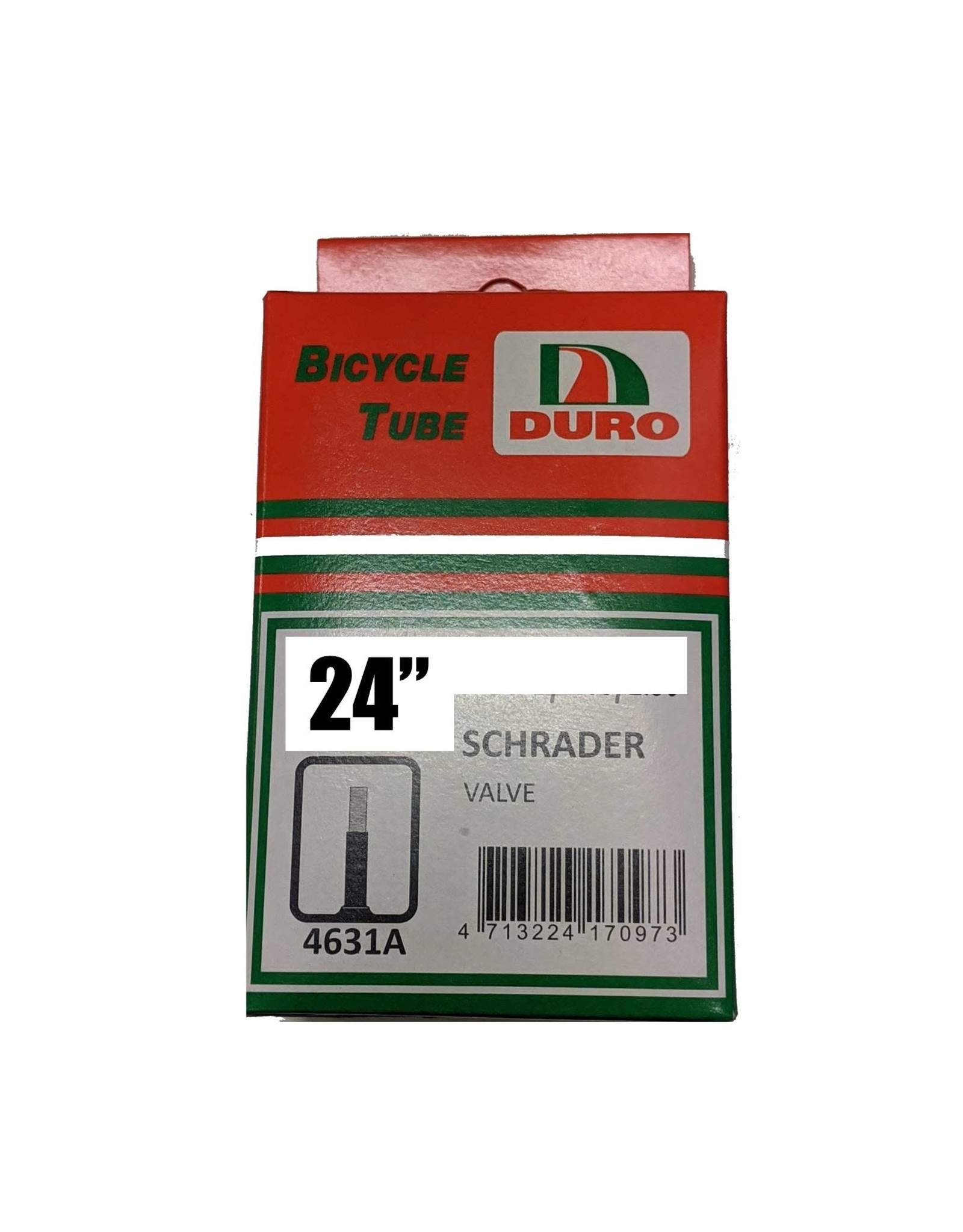 """Duro 24 x 1"""" (25-520) Schrader Tube"""