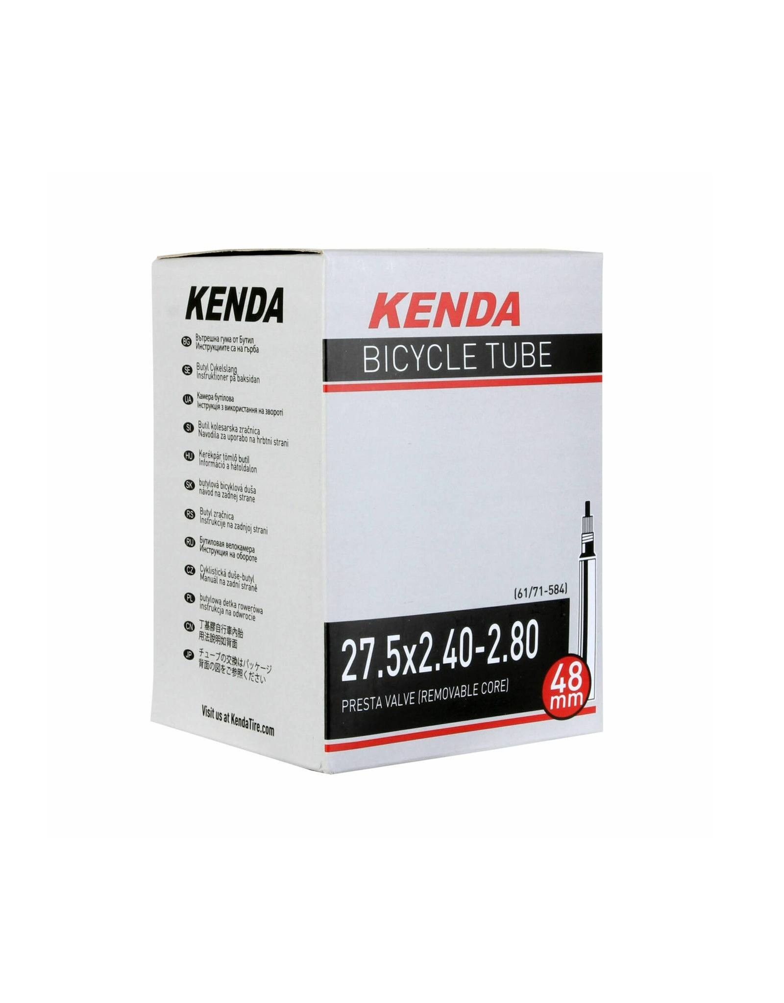 Kenda 27.5 x 2.4/2.8 Presta Tube
