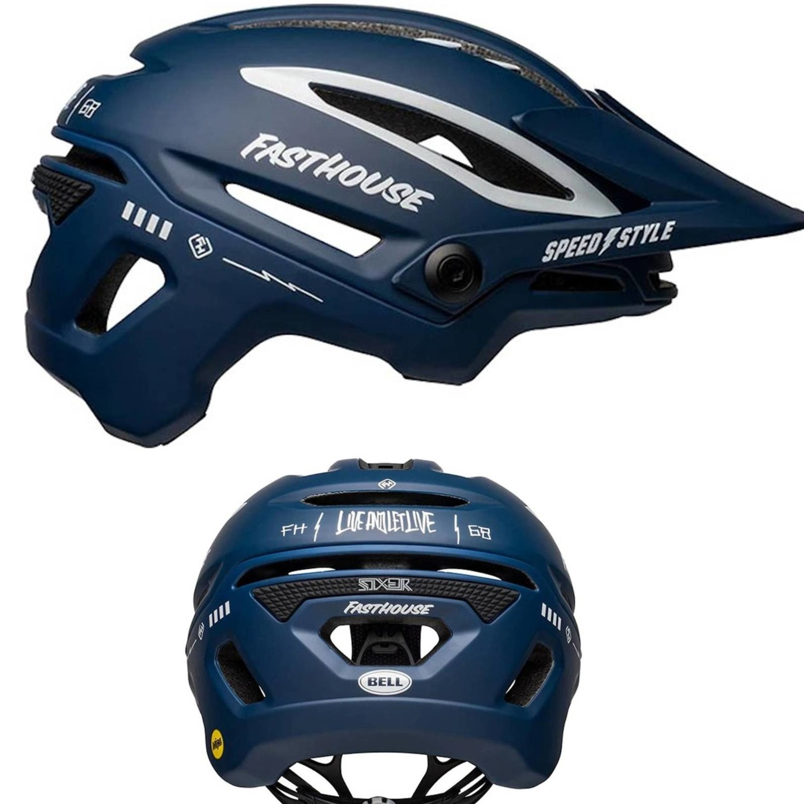 Bell Sixer Fasthouse MIPS Blue/White Helmet M 55-59cm