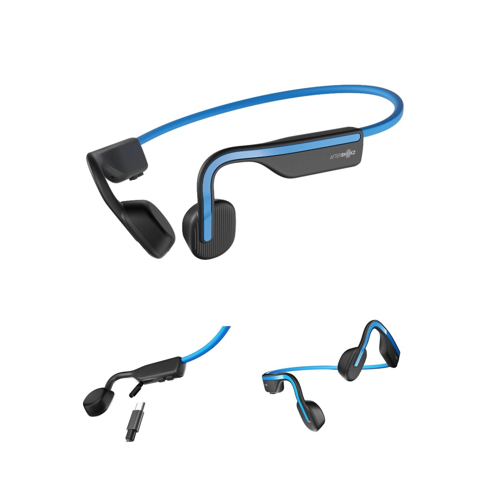 Aftershokz Openmove Wireless Bluetooth Headphones Elevation Blue