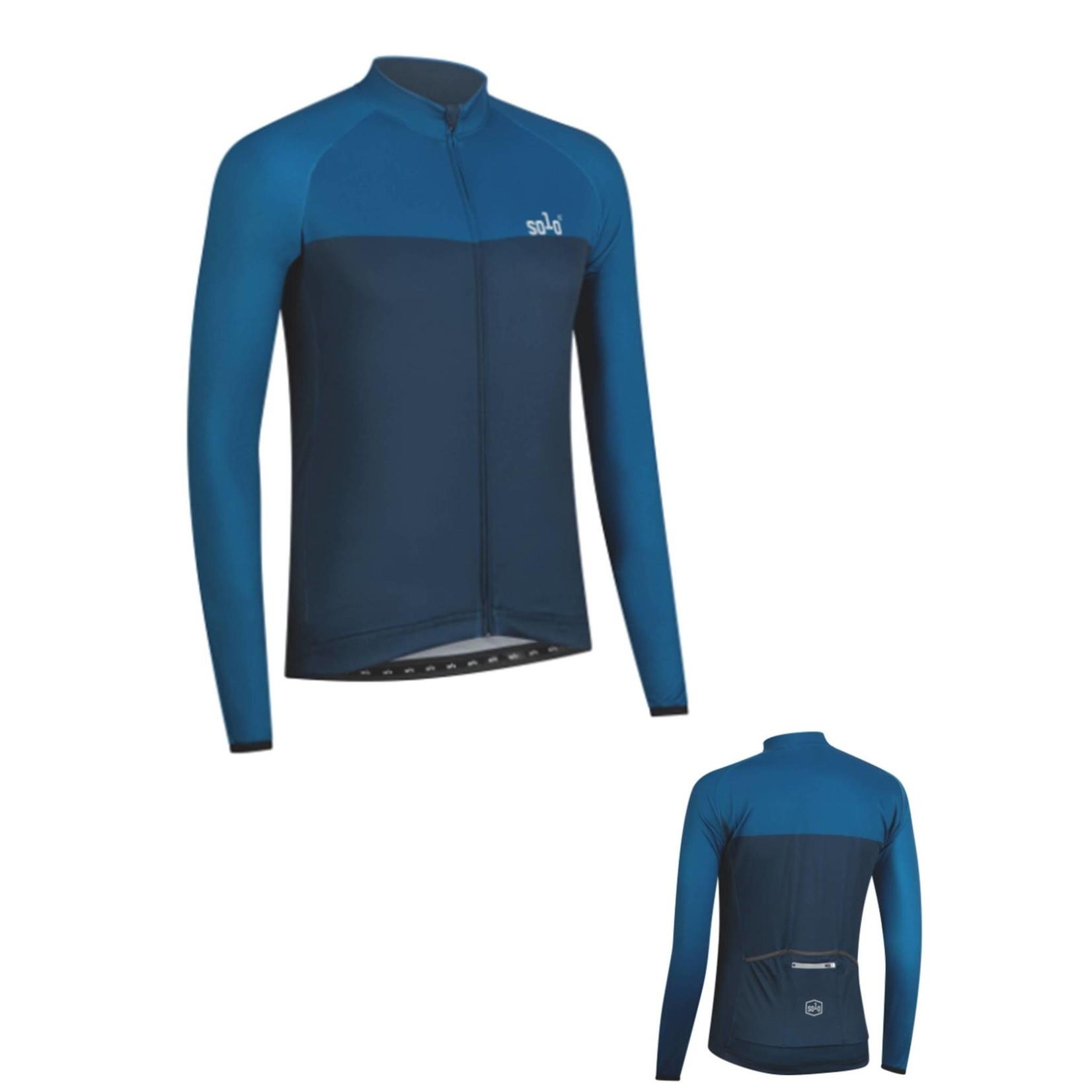 SOLO Solo 3-Season Mens Long Sleeve Jersey Blue