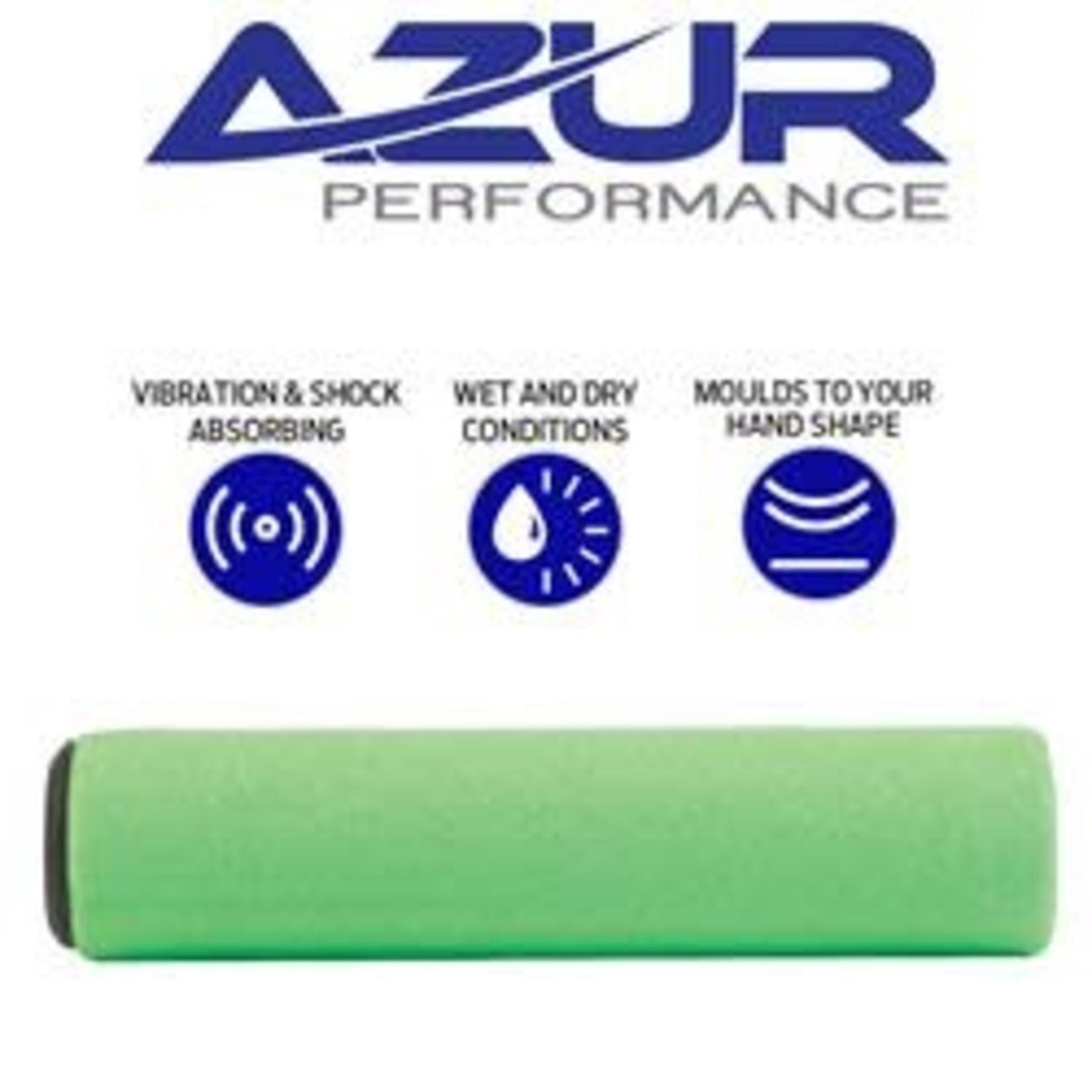 Azur Silicone MTB Handlebar Grips 130mm Green