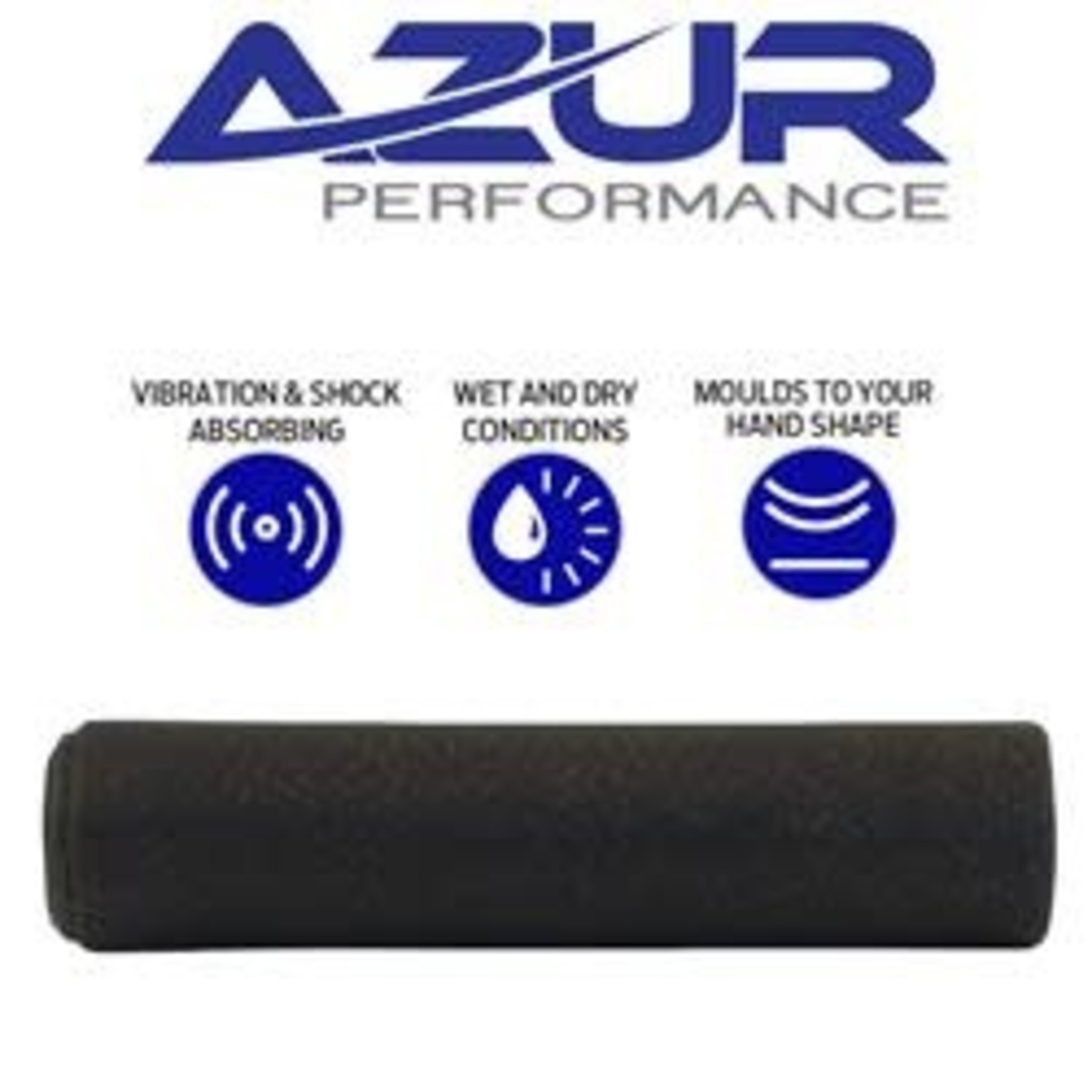 Azur Silicone MTB Handlebar Grips 130mm Black