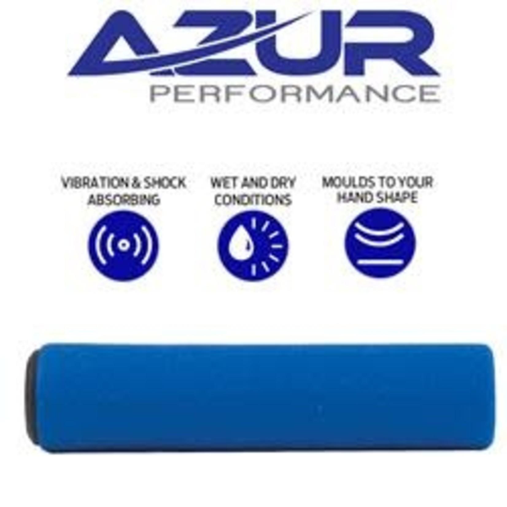Azur Silicone MTB Handlebar Grips 130mm Blue