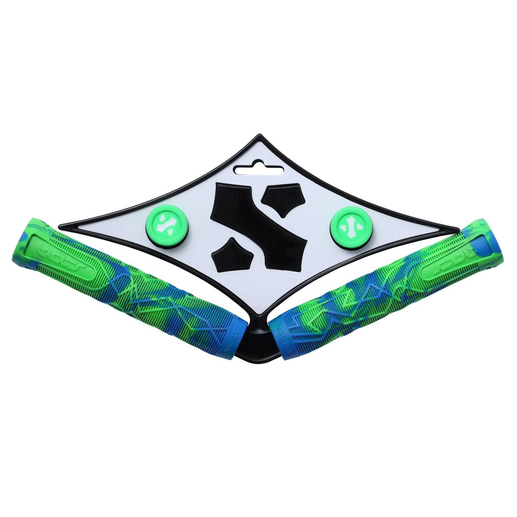Sacrifice Spy Bar Grips Blue/Green