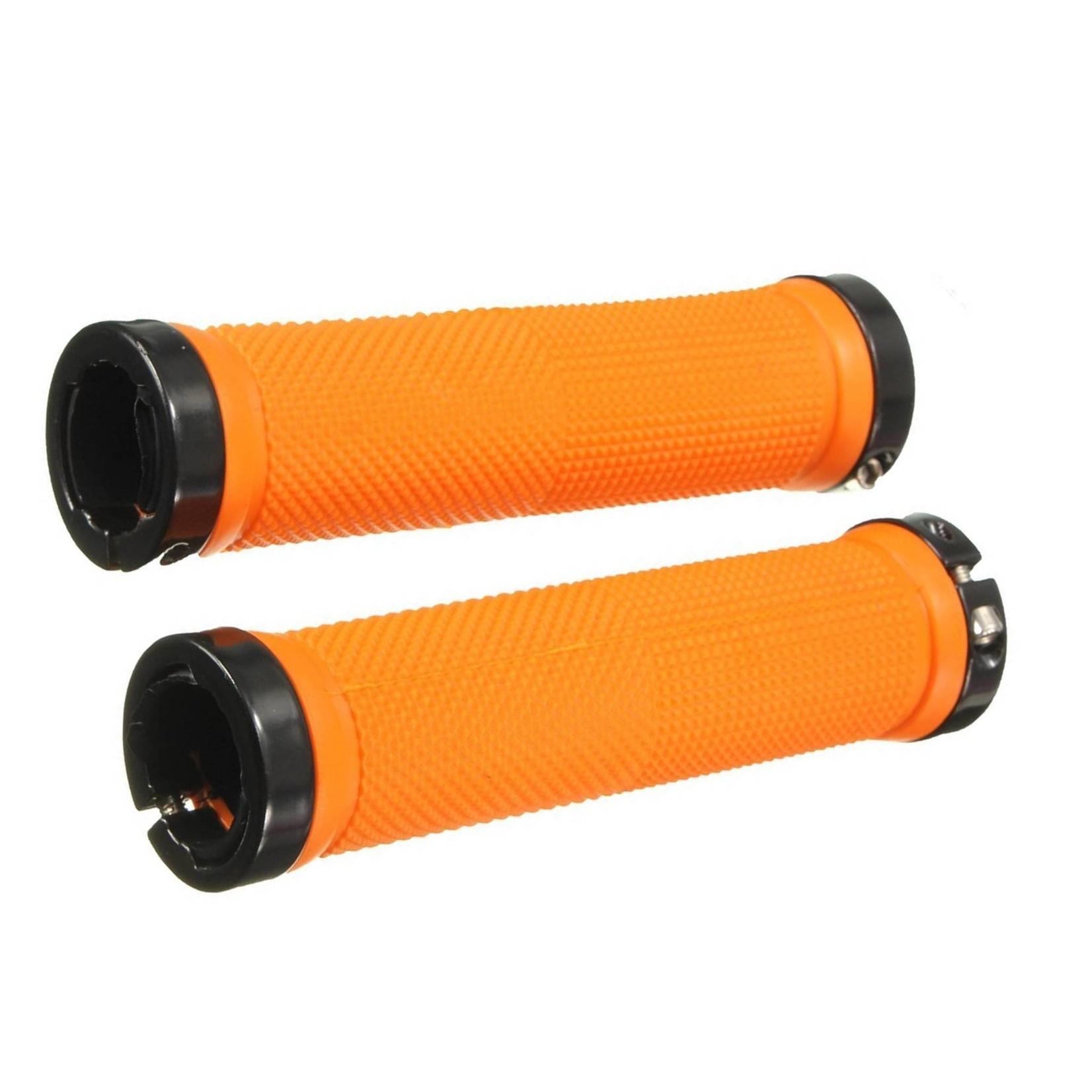 KWT File Lock-On MTB Grip Orange