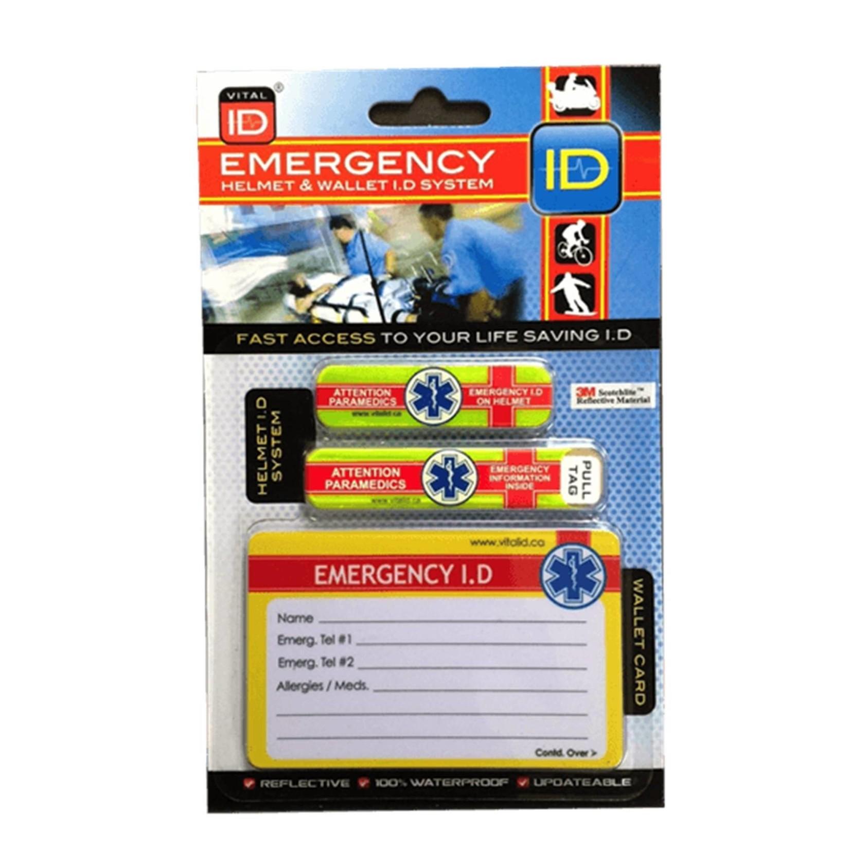 Helmet Emergency ID System