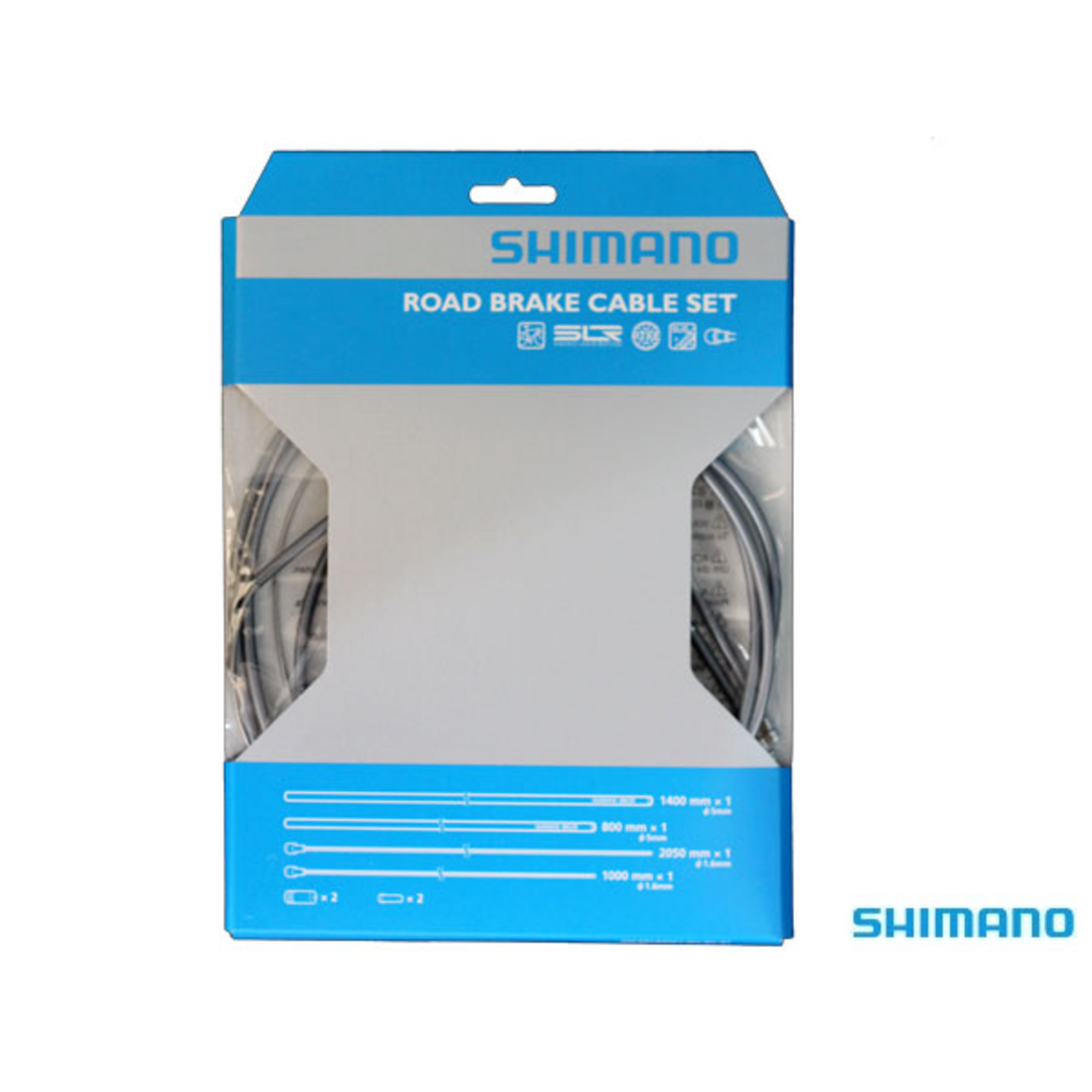 Shimano PTFE Stainless Steel Brake Cable Set Grey