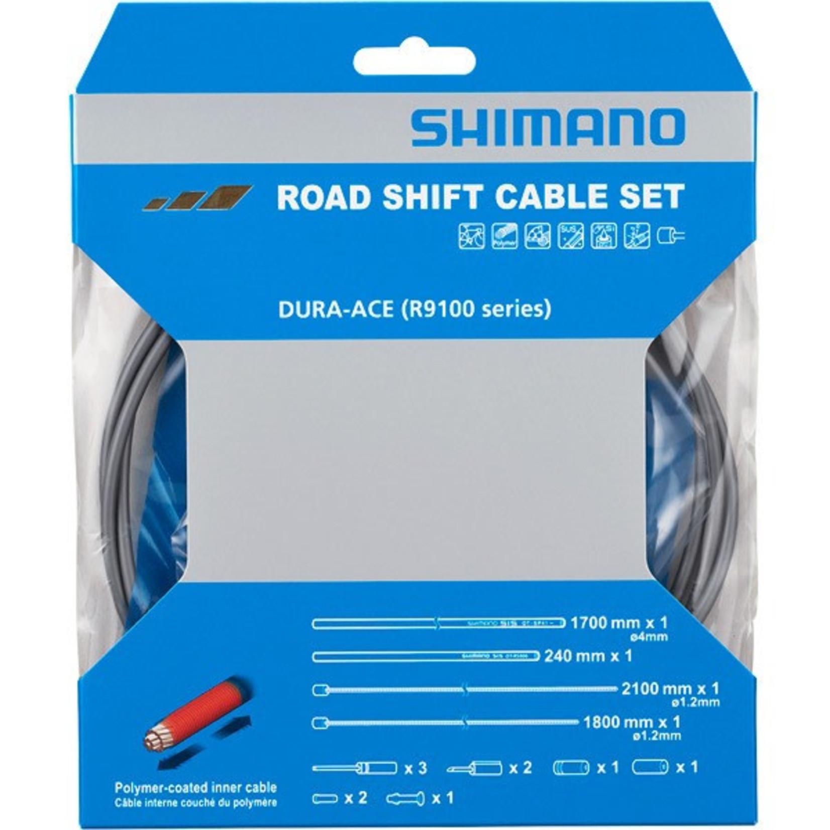 Shimano Road Gear Cable Set Dura-Ace R9100 Grey