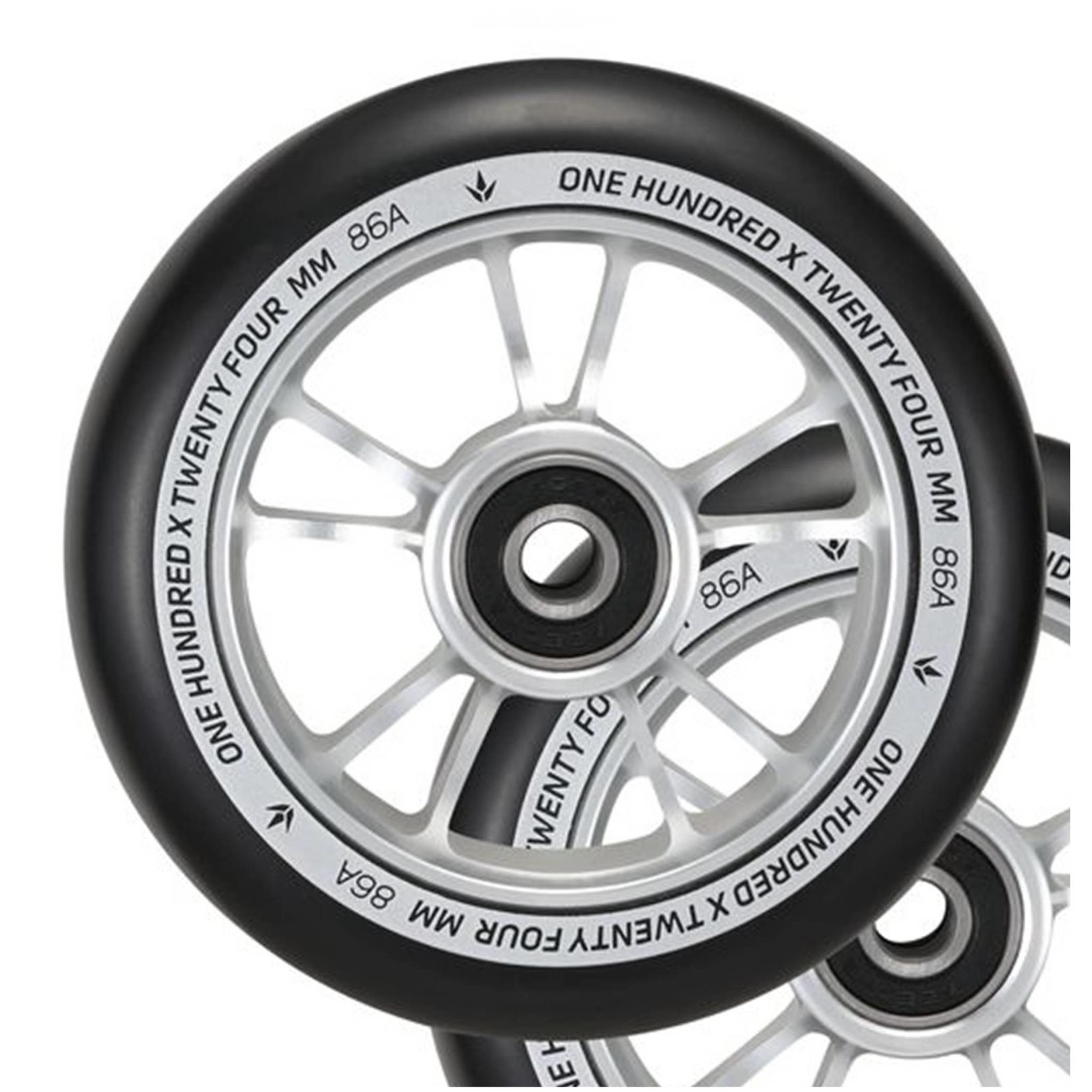 ENVY Envy 100mm Scooter Wheel Silver/Black
