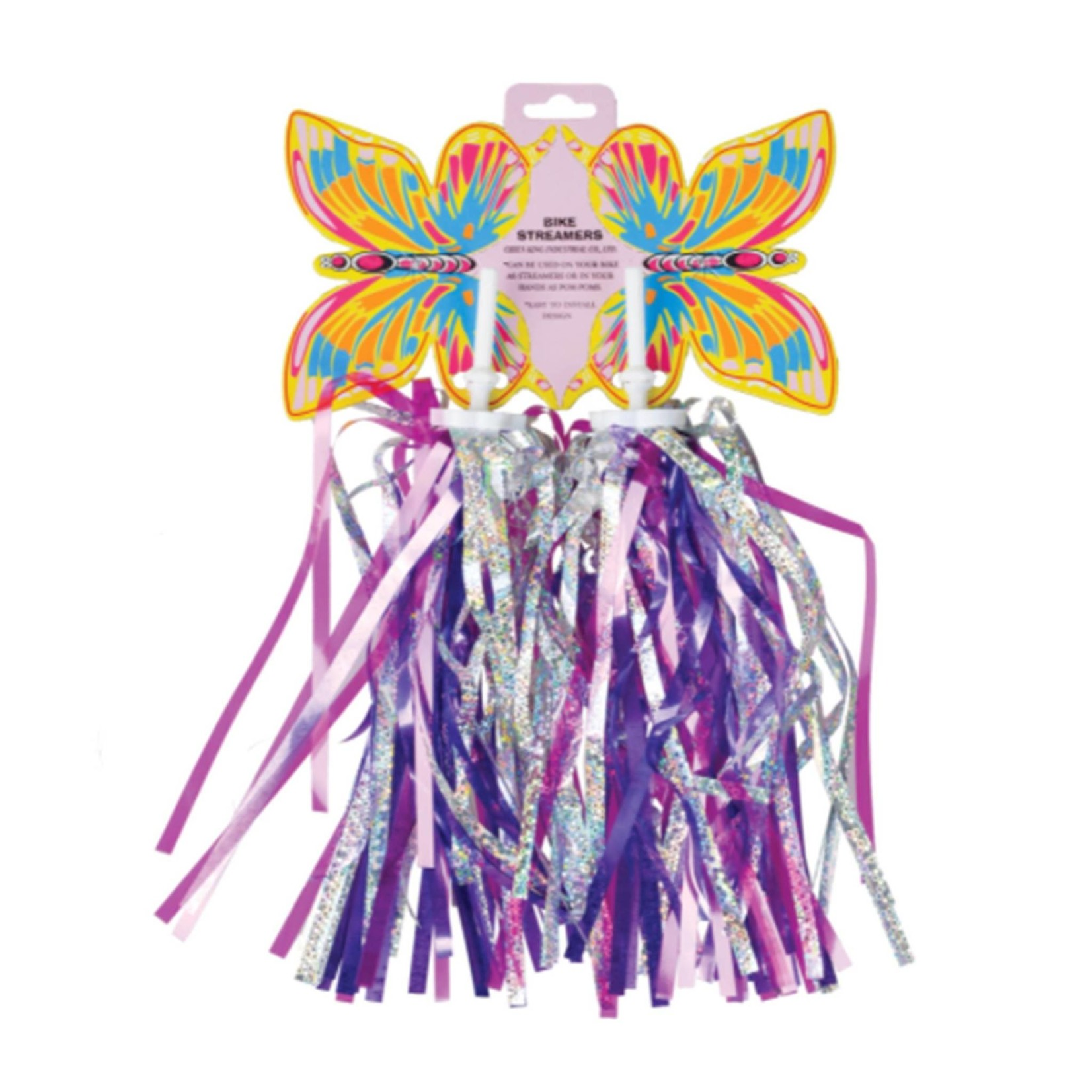 Bikes Up Streamers Sequin Laser Silver Pink Purple