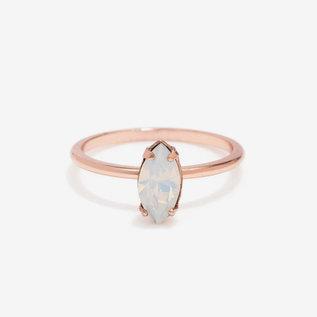 Bing Bang Tiny Marquis Ring in RG/Opal