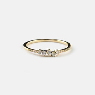 SS Fine Jewelry Mixed Shape Diamond Ring in 14K Yellow Gold