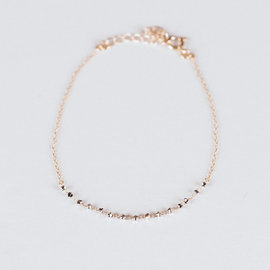 SS Fine Jewelry Beaded Bracelet in 10K Yellow Gold