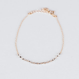 SS Fine Jewelry Beaded Bracelet in 10K Yellow Gold