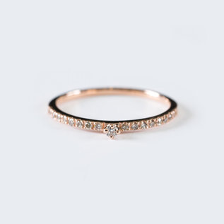 SS Fine Jewelry Everyday Diamond Ring in 10K Rose Gold