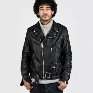Schott NYC Vintage Cowhide Leather Motorcycle Jacket