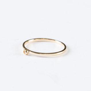 SS Fine Jewelry Single Bezel Diamond Ring in 10K YG
