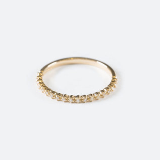SS Fine Jewelry Prong Diamond Ring in 10K Yellow Gold
