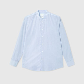 Wood Wood Tyson Shirt in Blue Pinstripe