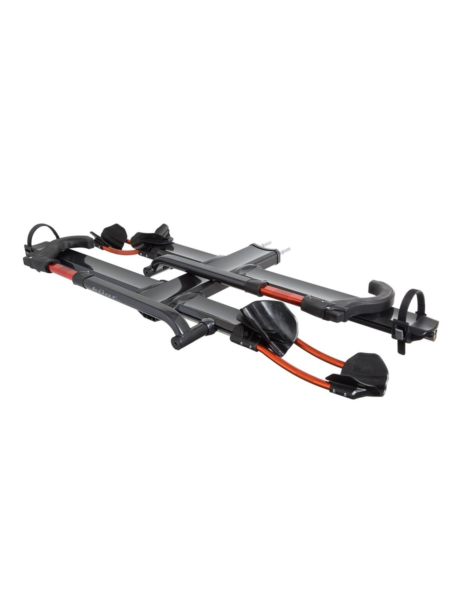 """Kuat NV 2.0 Add-On - 2"""" +2-Bike Rack - Gray Metallic and Orange"""