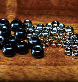 HARELINE 7/64 2.8mm SLOTTED TUNGSTEN BEADS 11 BLACK 20 PACK