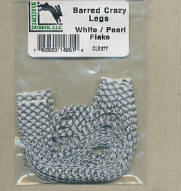 HARELINE BARRED CRAZY LEGS WHITE/PEARL FLAKE