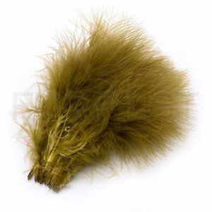 X - SELECT MARABOU OLIVE BROWN