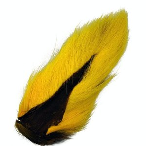 HARELINE LARGE NORTHERN BUCKTAIL YELLOW 383