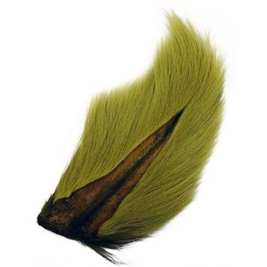 LARGE NORTHERN BUCKTAIL YELLOW OLIVE 386