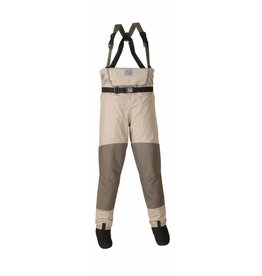 Chota SOUTH FORK STOCK FOOT WADERS-SAND-GREEN-LARGE STOUT