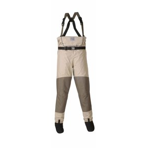 Chota SOUTH FORK STOCK FOOT WADERS-SAND-GREEN-XX LARGE STOUT
