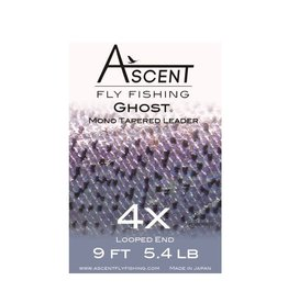 Ascent Ghost Mono Tapered Leader 4X