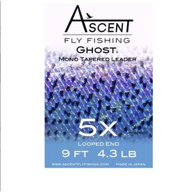 Ascent Ghost Mono Tapered Leader 5X