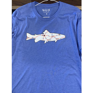 TN FLY CO MAP TEE-EXTRA LARGE