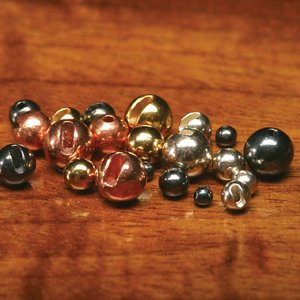 Tungsten Slotted Gold Beads 3.2mm
